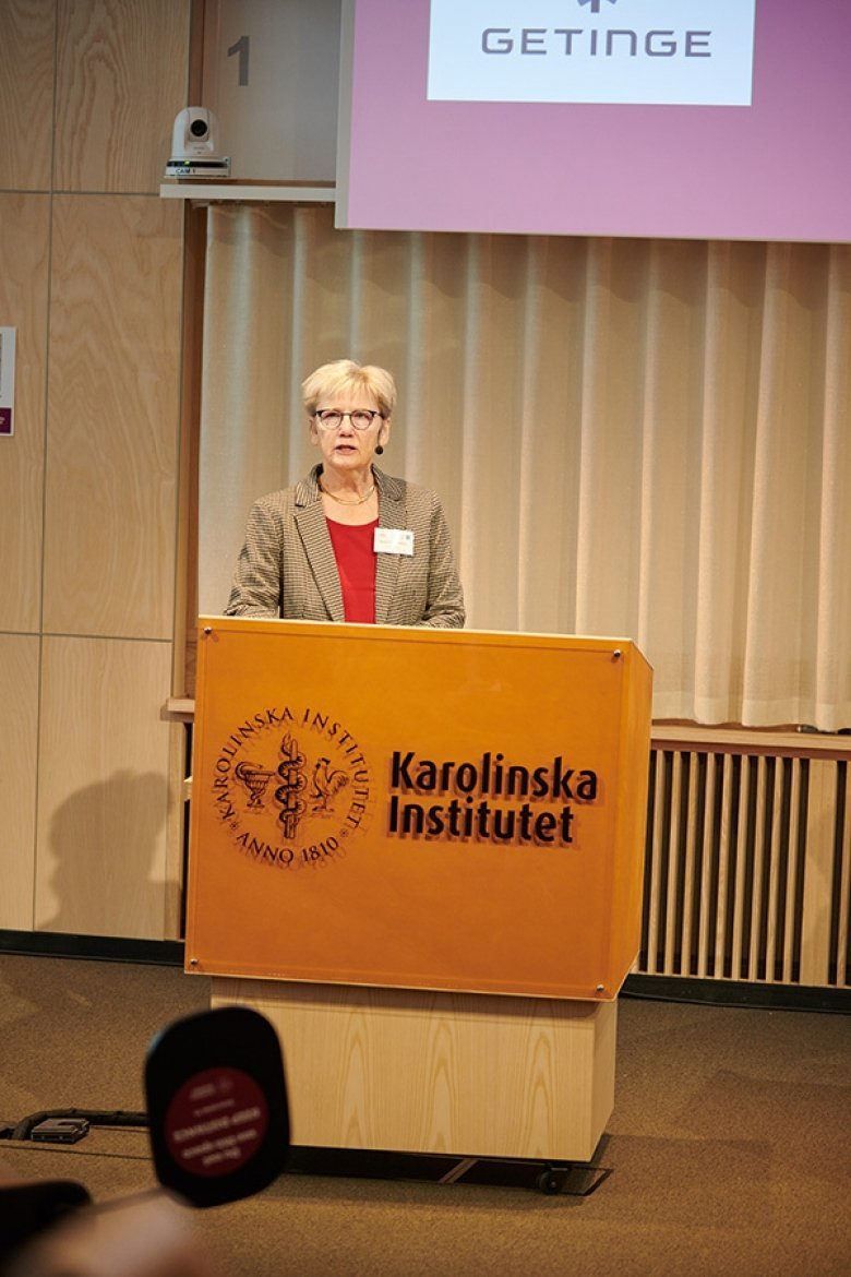 Agneta Richter-Dahlfors at the inauguration ceremony of AIMES on 30 September 2020, in Biomedicum.