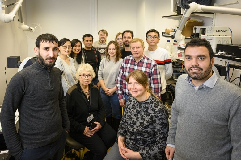 Photo of Anita Göndör's research group at the Department of Oncology-Pathology.