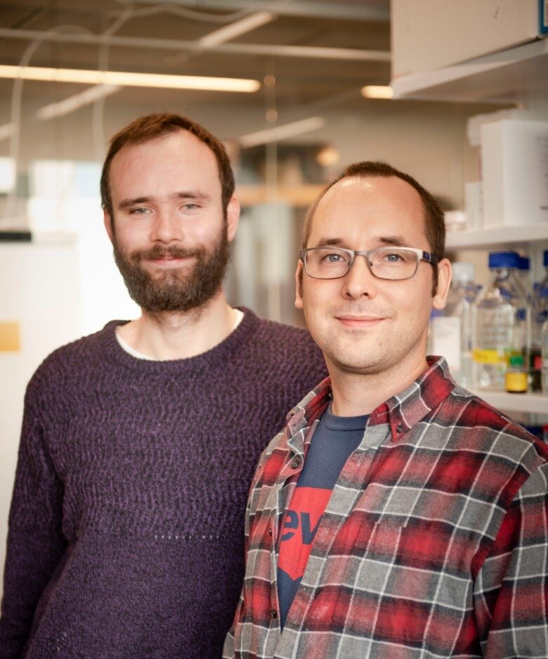 Photo of Anton Larsson and Björn Reinius.