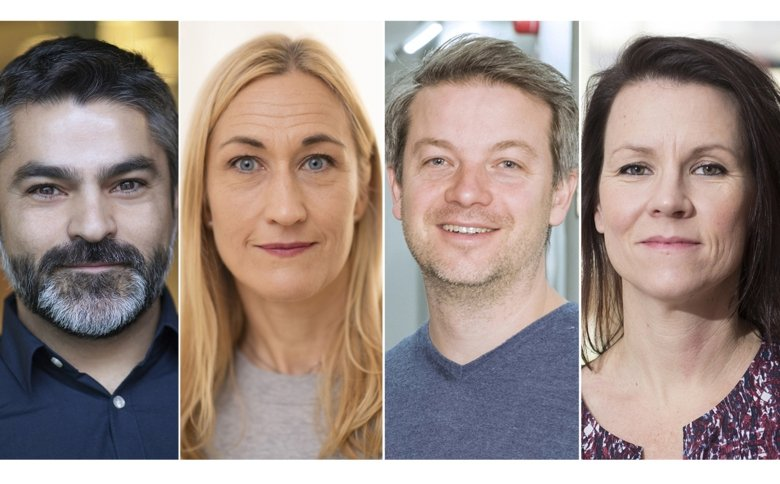 Portraits of four researchers.