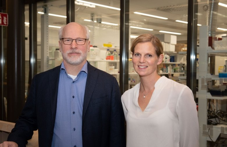 Randall Johnson and Helene Rundqvist, researchers at Karolinska Institutet. Credit: Stefan Zimmerman.