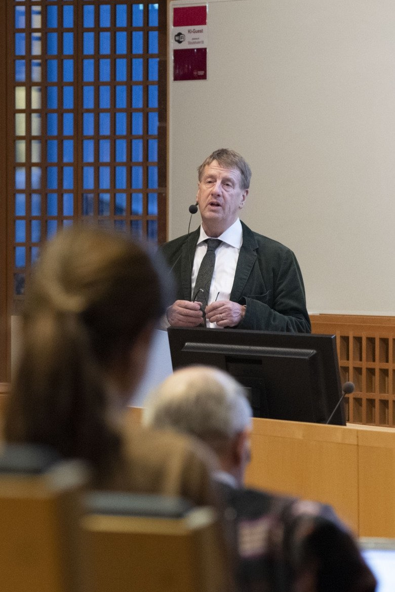 Photo of Claes Frostell at Ethics Council seminar.