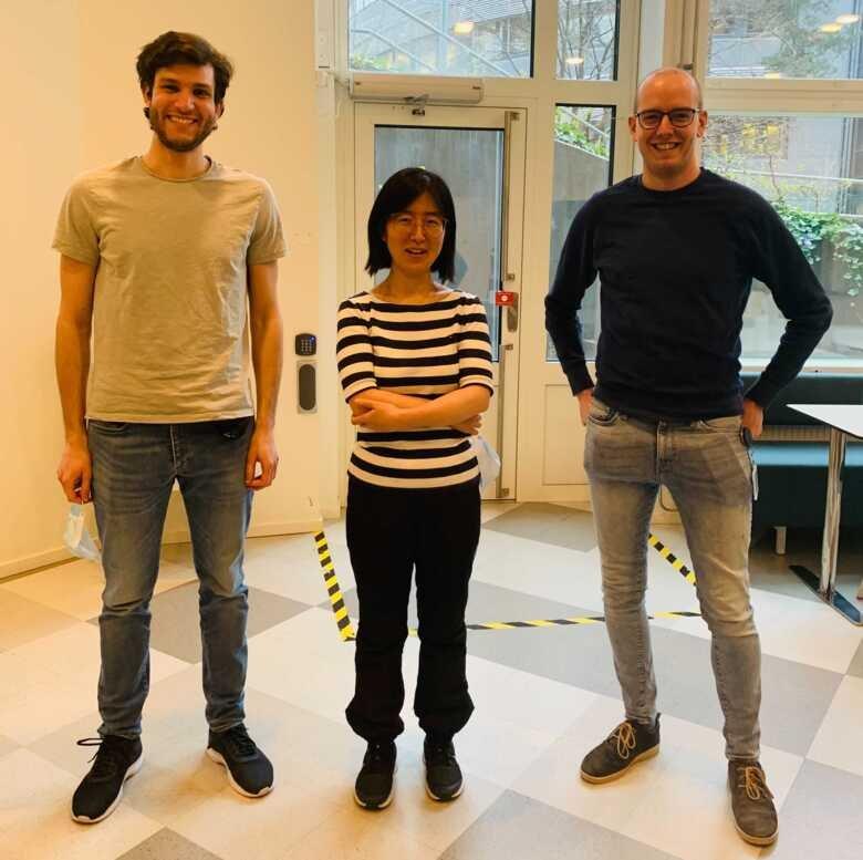 Lead authors Michele Simonetti, Ning Zhang and Luuk Harbers